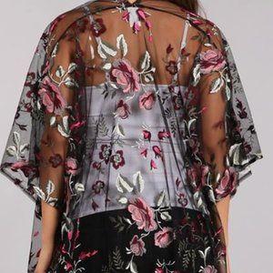 Unique Floral Kimono. Made in USA